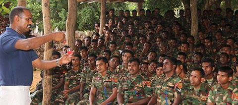 HIV & AIDS Awareness programme conducted for Army Officers in Killinochchi